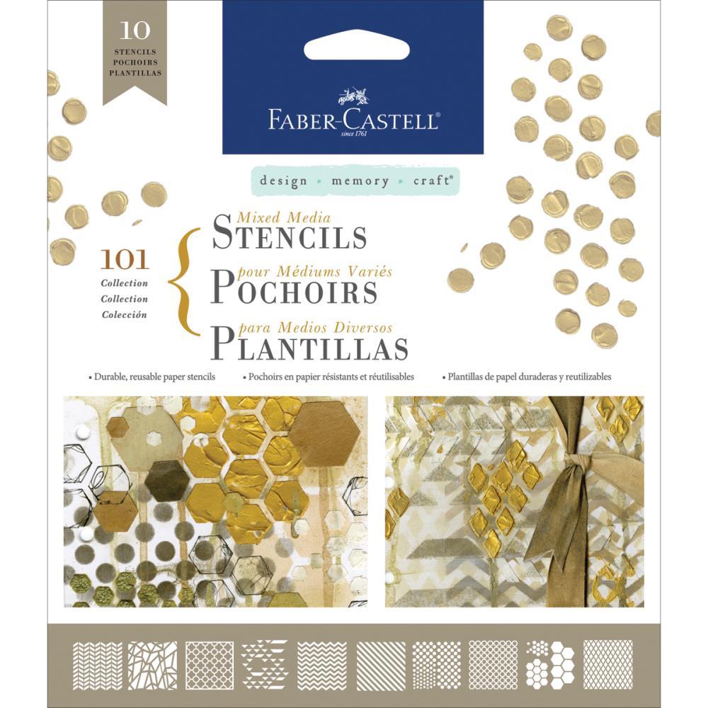 Set de 10 pochoirs pour mixed media - Faber-Castell