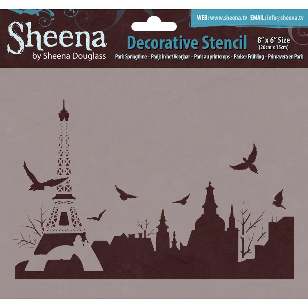 Pochoir plastique Paris au printemps - Sheena Douglass