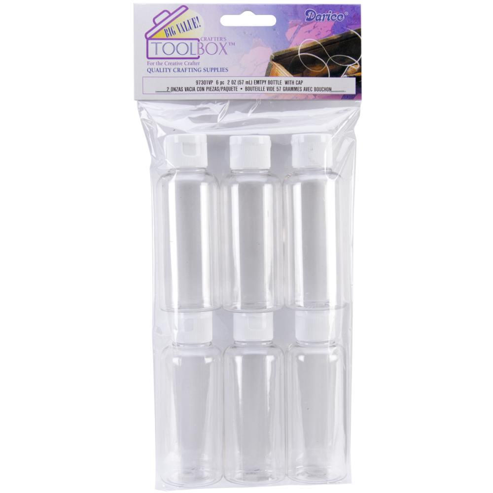 Bouteilles vides en plastique avec bouchon - Darice