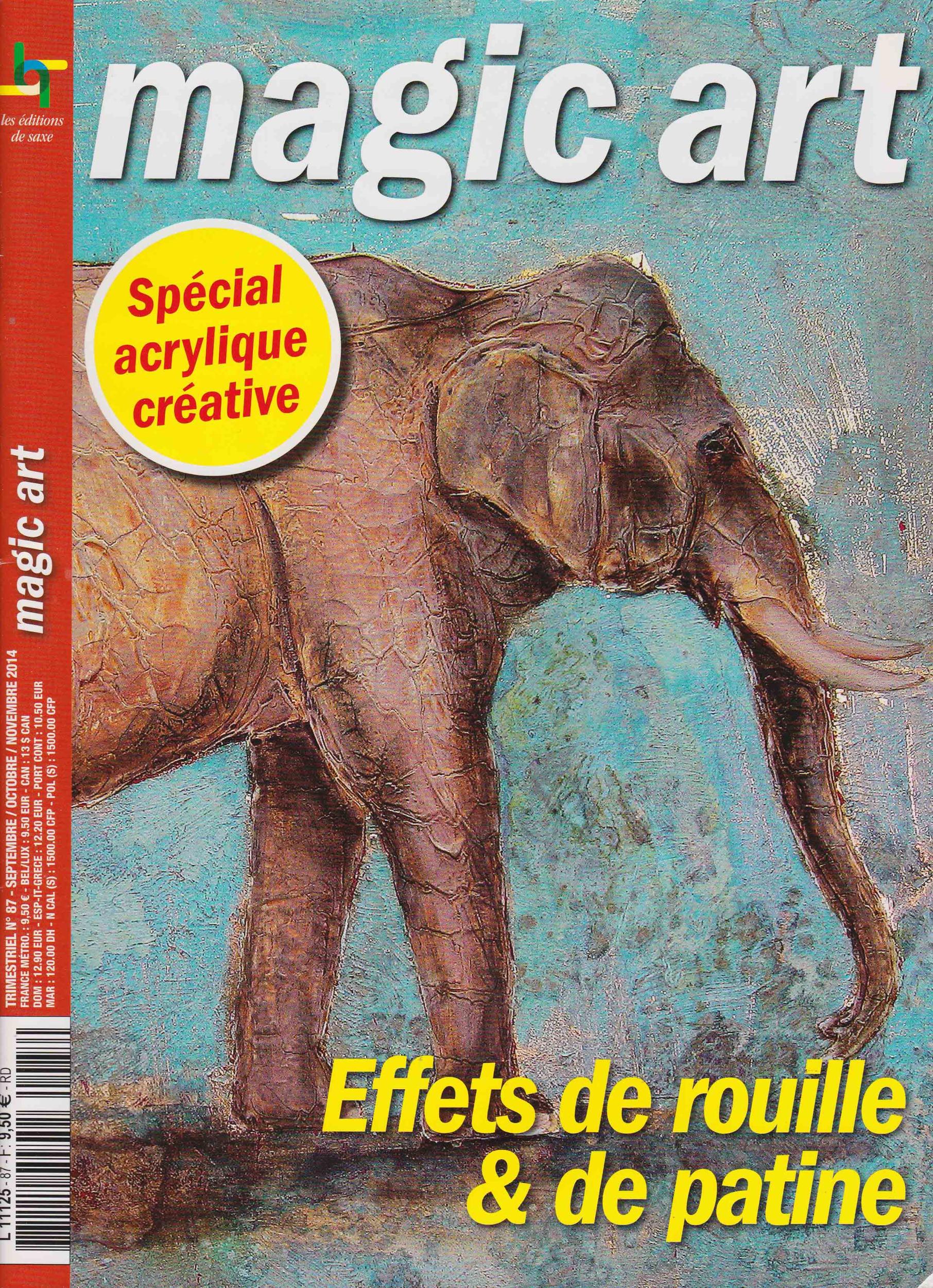Revue Magic Art N°87 - Effets de rouille et de patine
