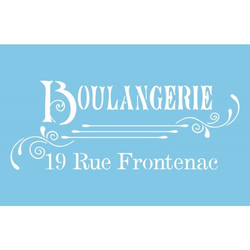 Pochoir boulangerie - 21,5cmX13,9cm
