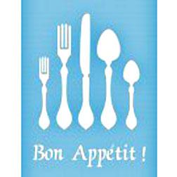Pochoir Bon Appétit - 21,5cmX28cm