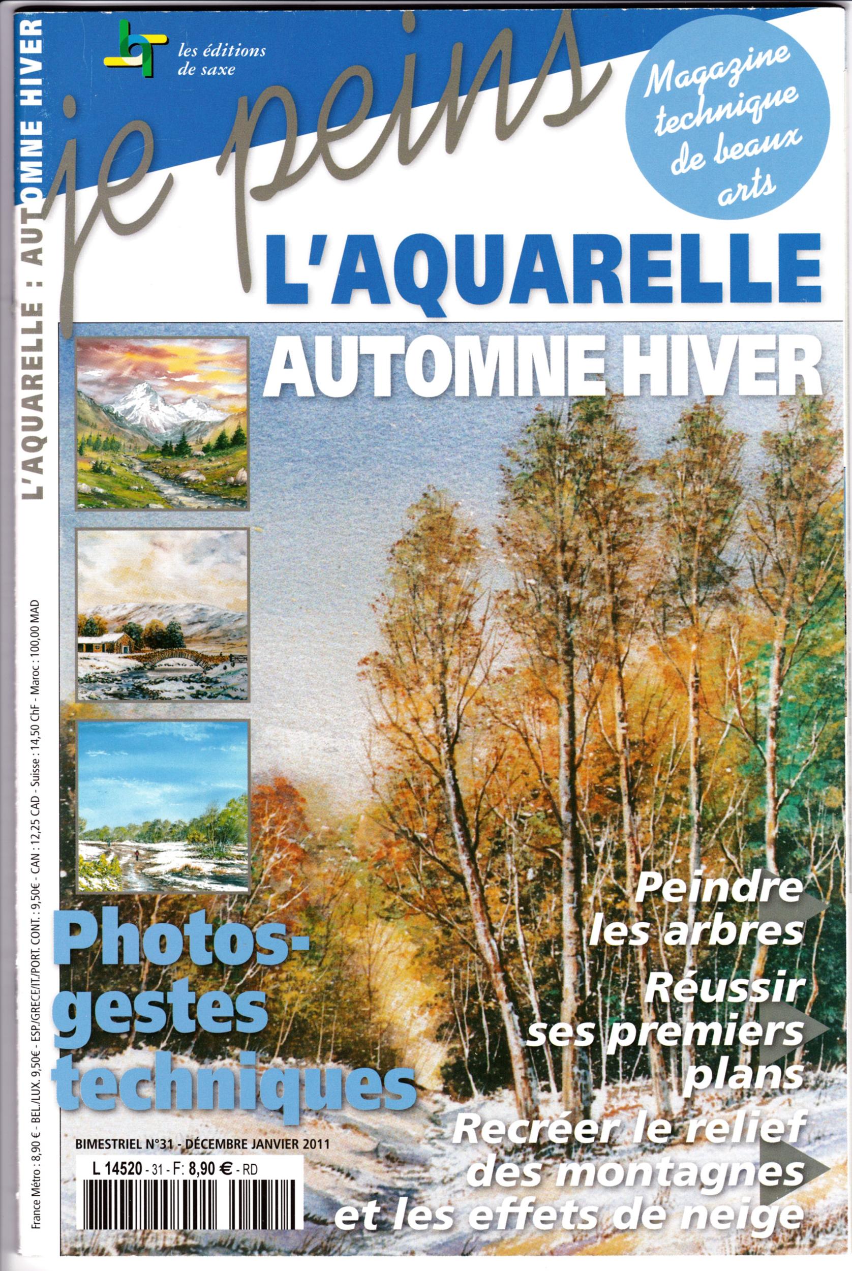 Magazine je peins - l\'aquarelle - automne hiver
