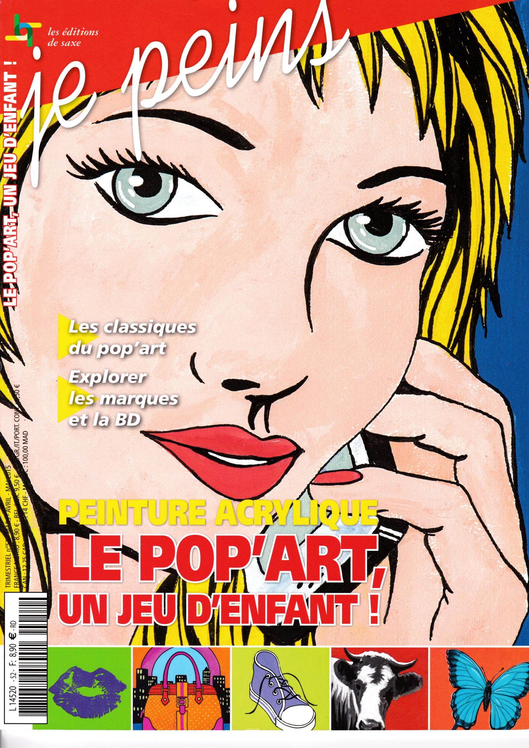Magazine je peins - Peinture acrylique: le Pop\'Art
