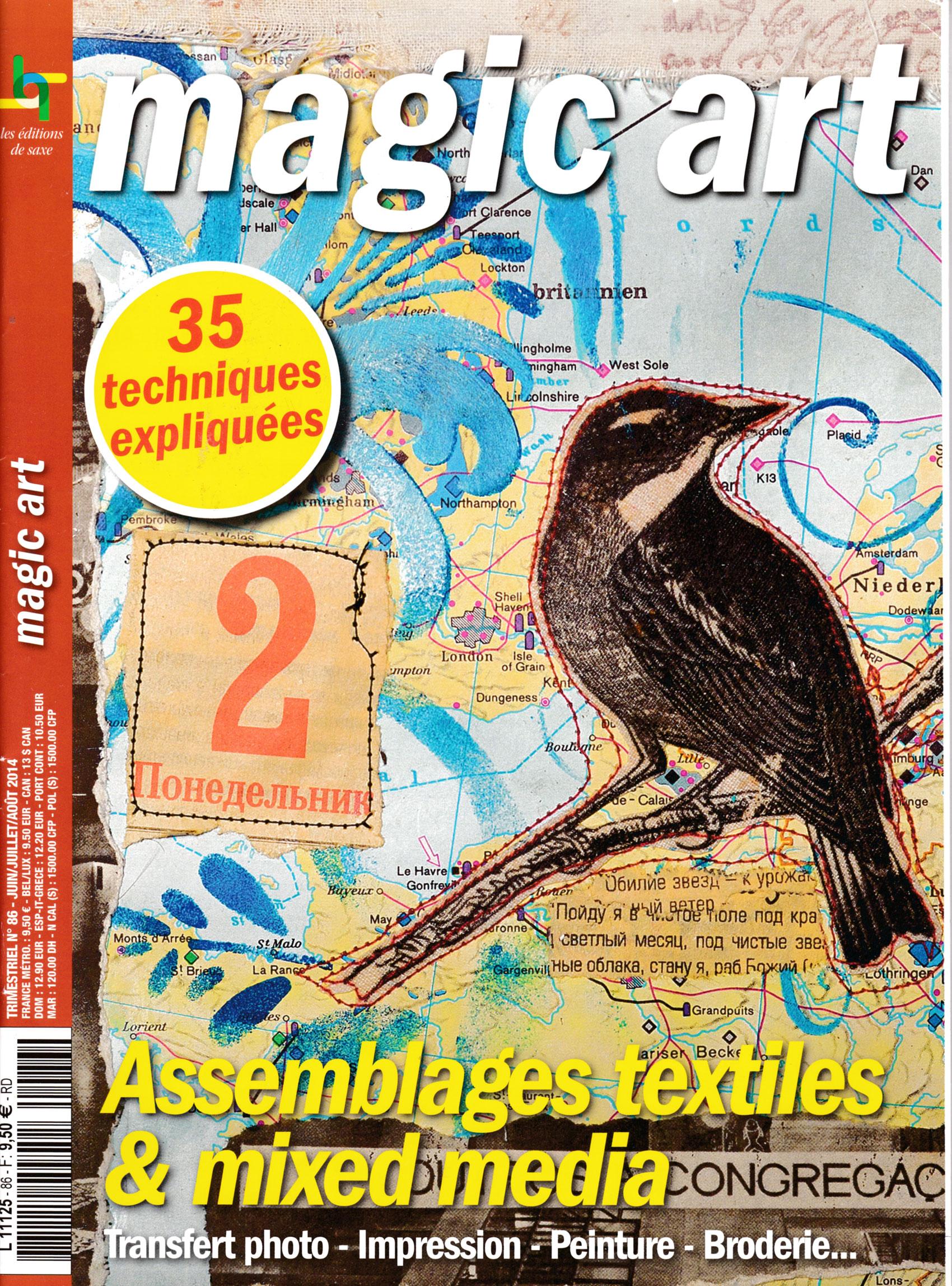Revue Magic Art -  N°86 - assemblages textiles & mixed media