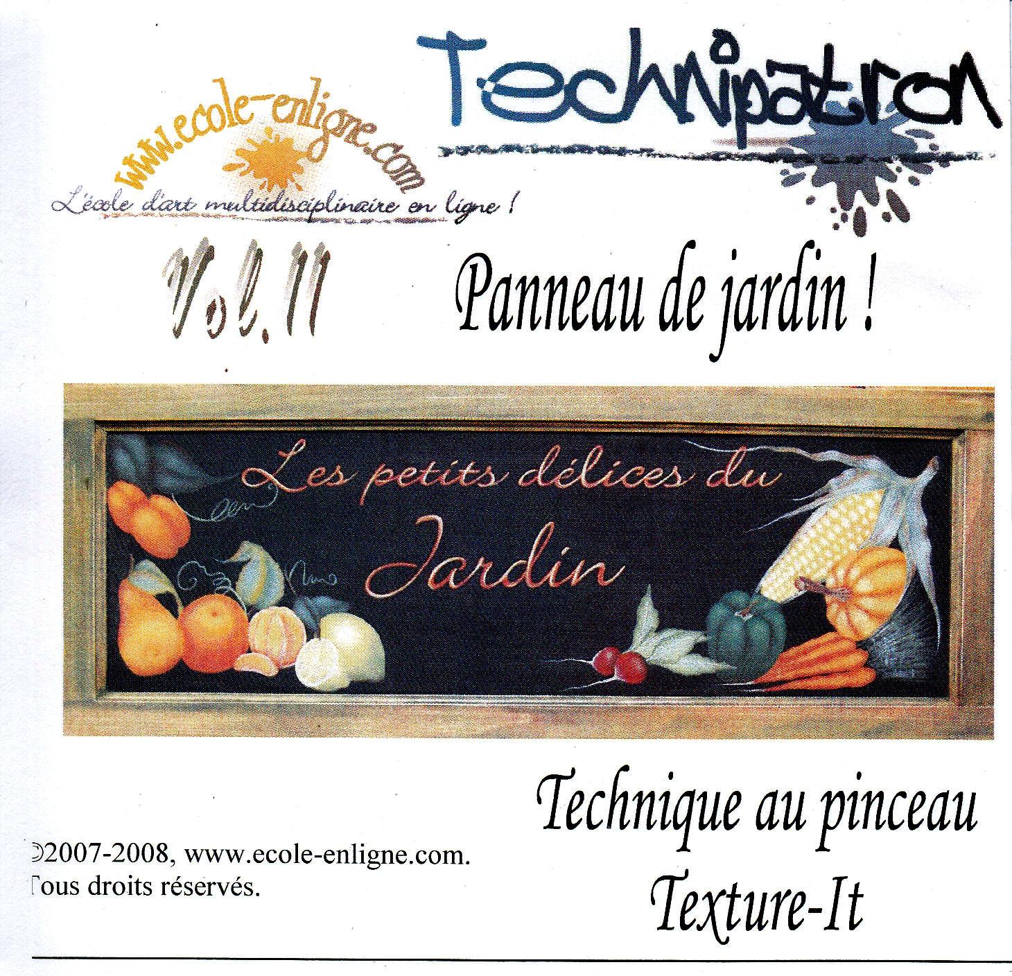 Panneau de jardin - Technipatron Vol 11