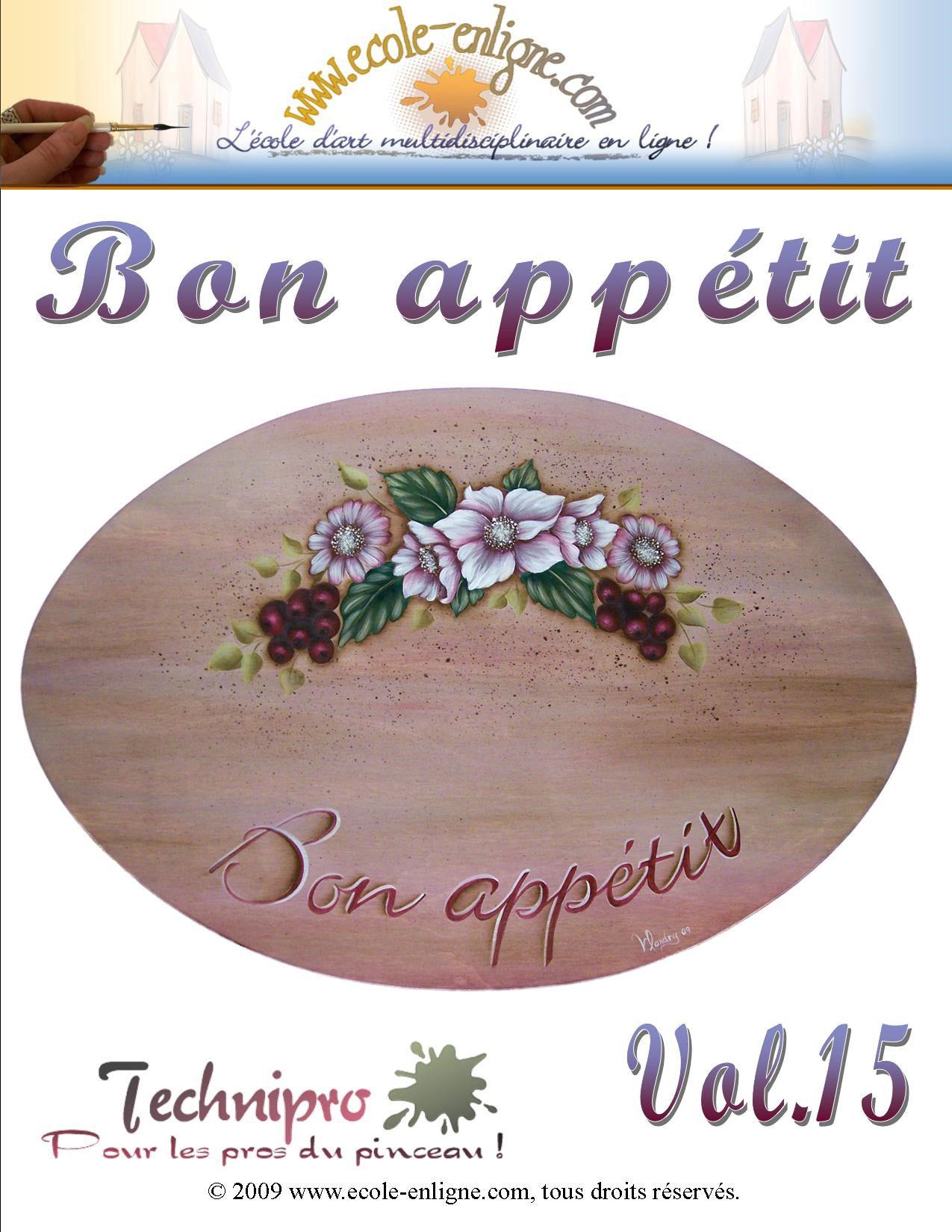 Panneau Bon Appétit - Technipro Vol 15