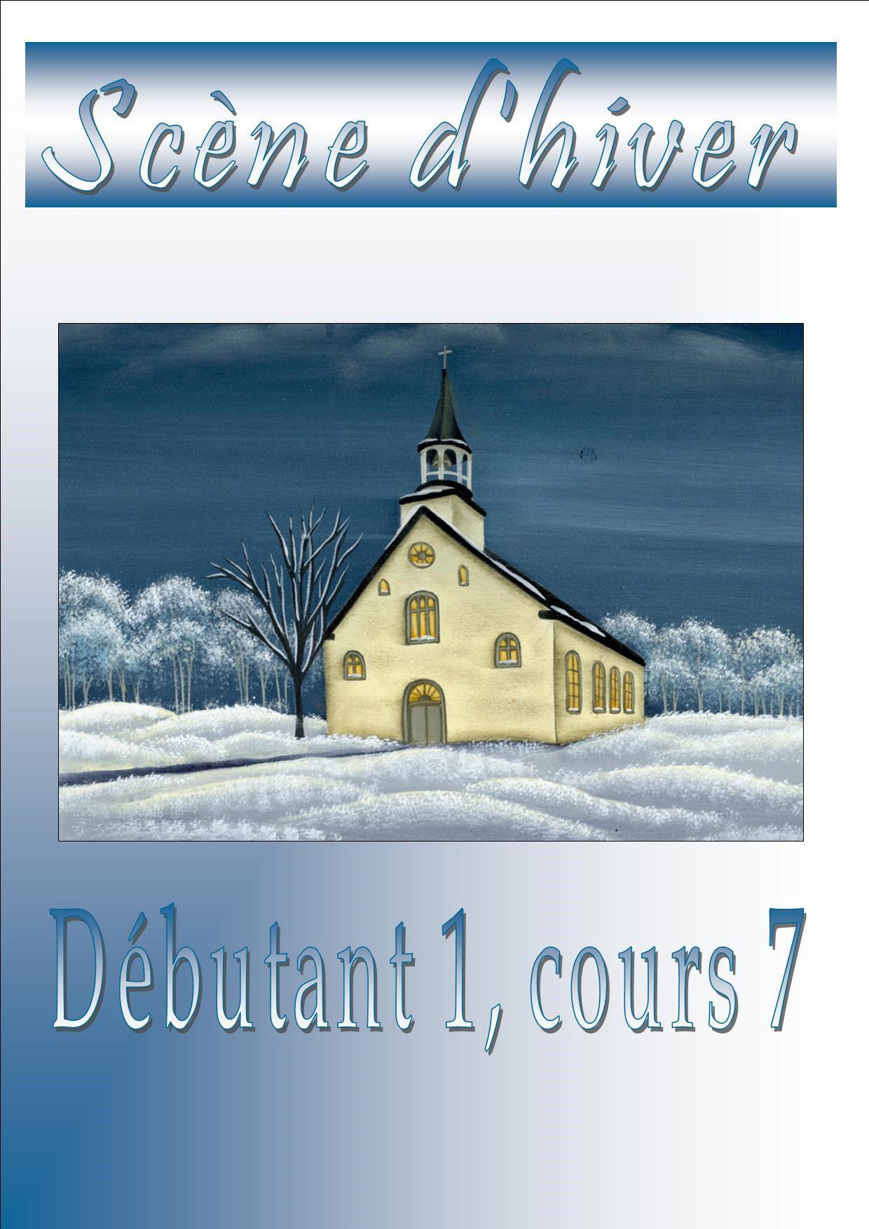 L\'Eglise, scène d\'hiver - Véronique Landry