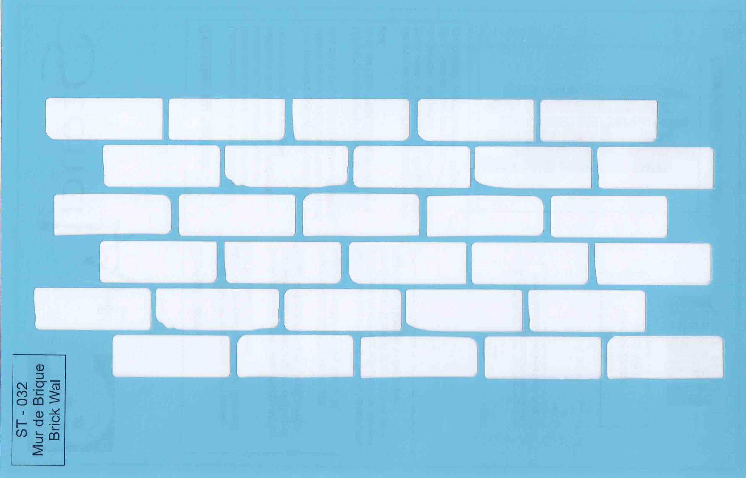 Pochoir motif mur de brique - 21,5x14cm