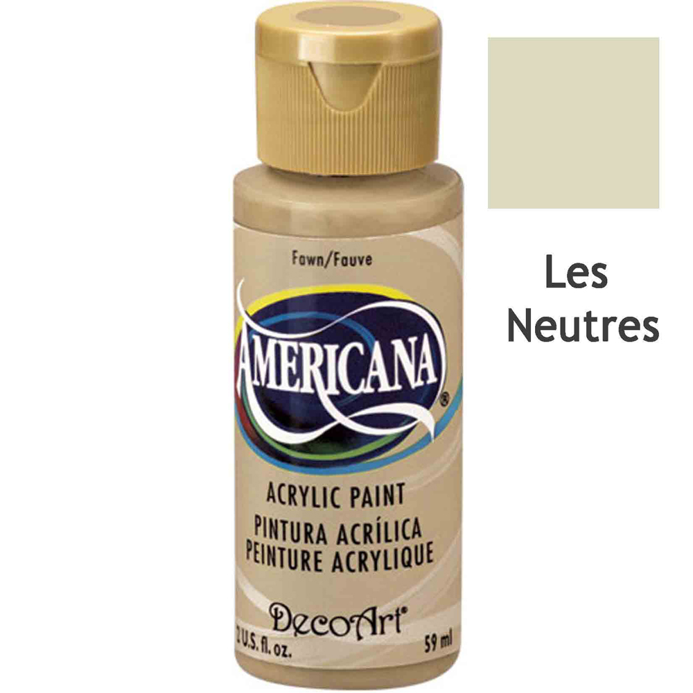 Acrylique Americana (DecoArt) - 59ml - Couleurs neutres -