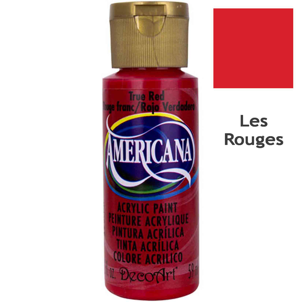 Acrylique Americana (DecoArt) - 59ml - Nuances Rouges