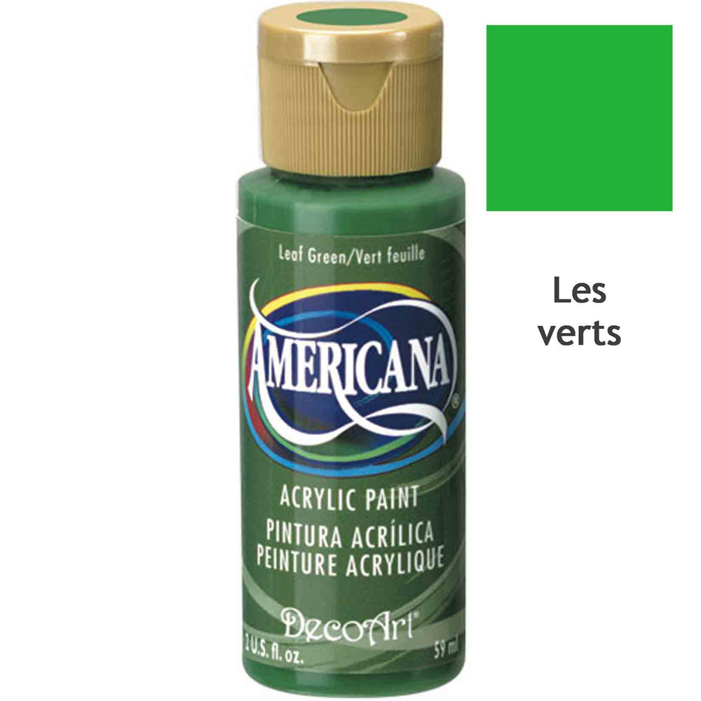 Acrylique Americana (DecoArt) - 59ml - nuances vertes