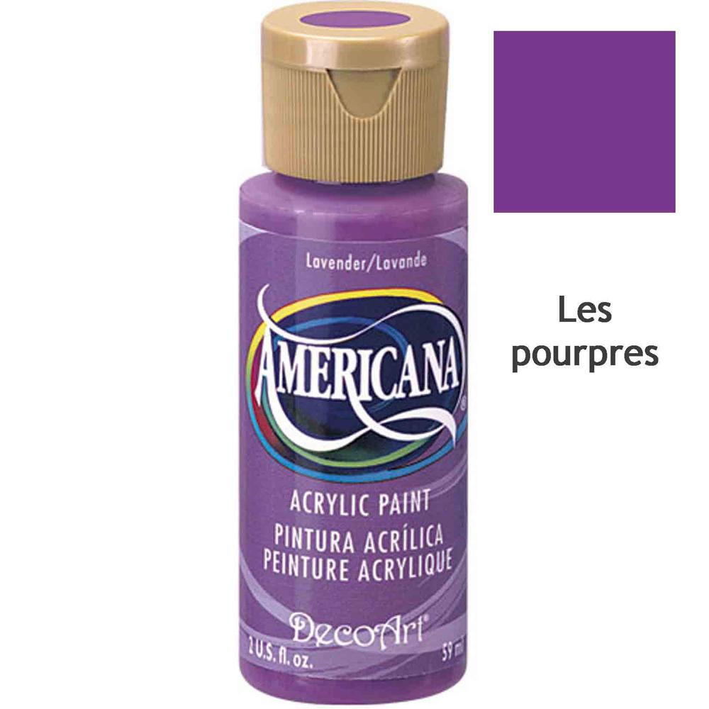 Acrylique Americana (DecoArt) - 59ml - Nuances Pourpres