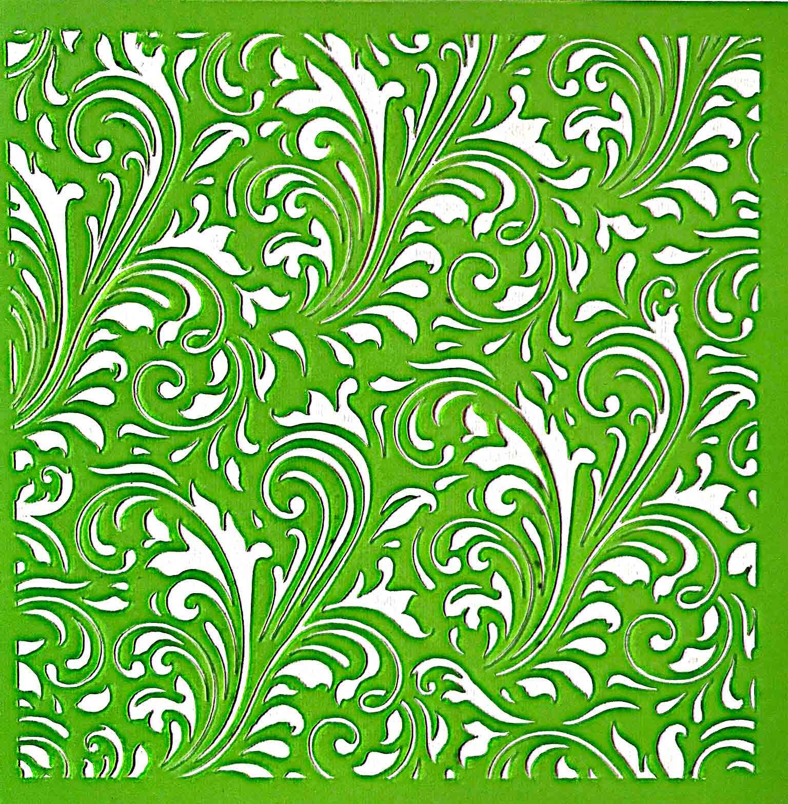 Pochoir motif swirl flourish - 15x15cm - Kaisercraft
