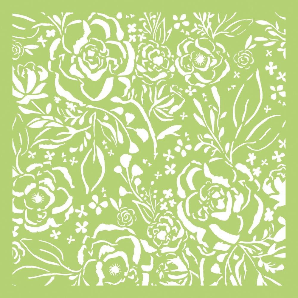 Pochoir motif botanical - 15x15cm - Kaisercraft