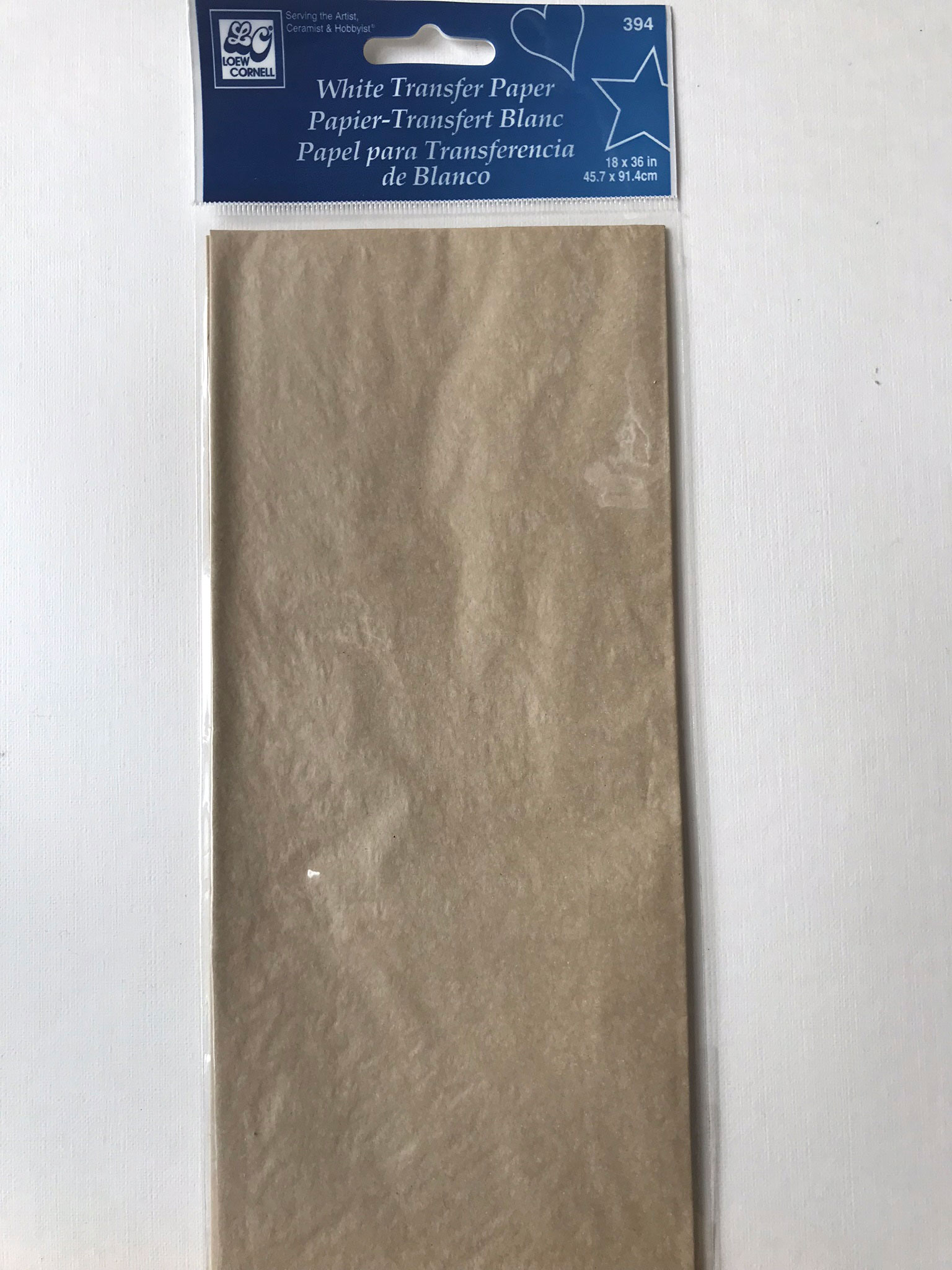 Papier Transfert Loew Cornell - blanc-  1 feuille