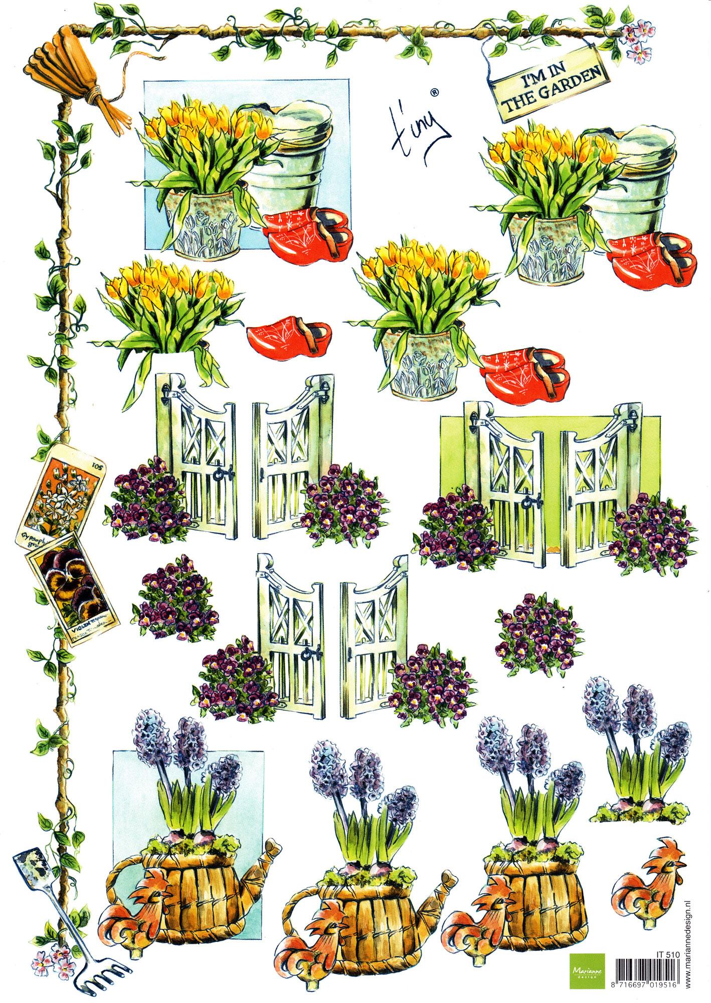 planche d\'images pour cartes 3D - A4 - The garden 4