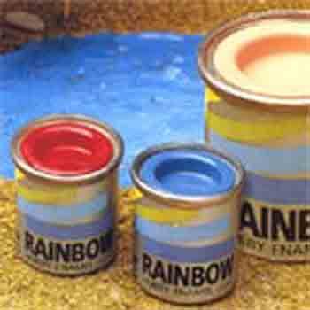 Emaux pour retouches et  modélisme Rainbow (Maimeri) - couleurs brillantes - 17ml