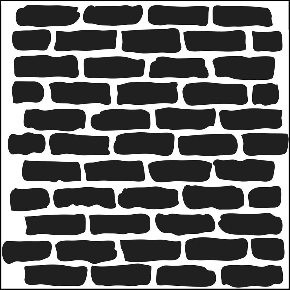 Pochoir motif briques - 15x15cm -TCW