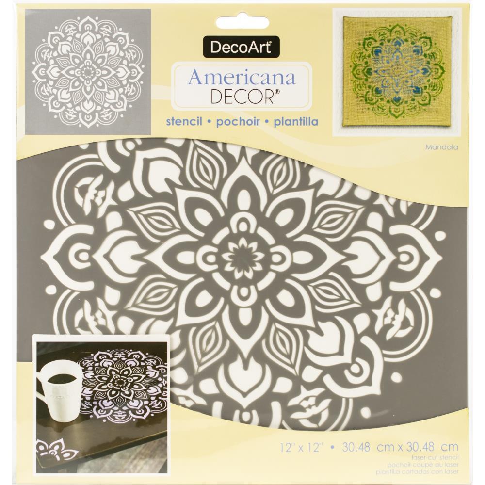 Pochoir motif Mandala - Americana Decor Stencil - 30,5X30,5cm