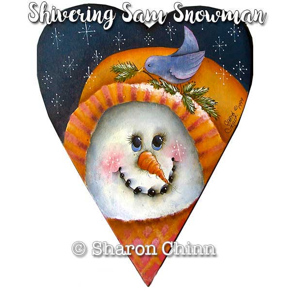 Shivering Sam Snow man  by Sharon Chinn