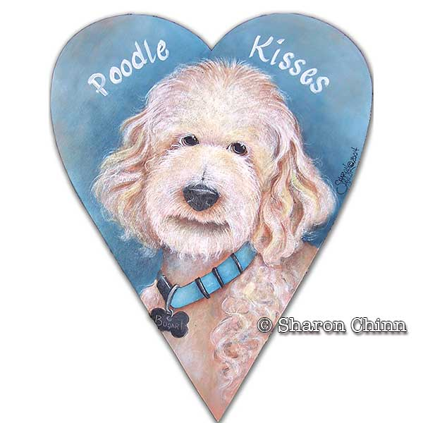 Poodle Kisses par Sharon Chinn