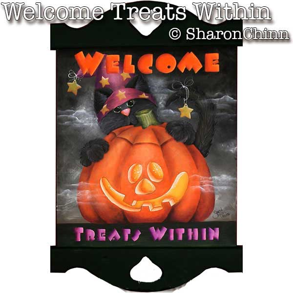 Welcome, treats within par Sharon Chinn