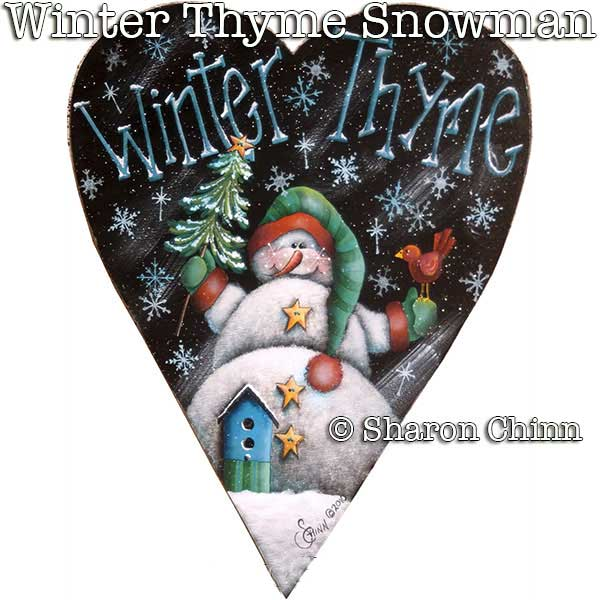 Winter Thyme snowman par Sharon Chinn