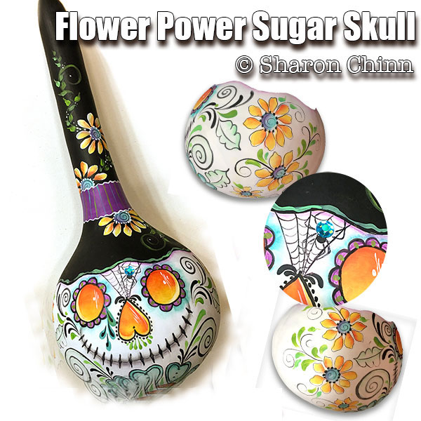 Flower on a gourd par Sharon Chinn