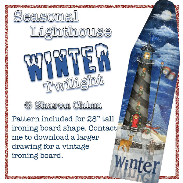 Seasonal lighthouse - winter twilight par Sharon Chinn