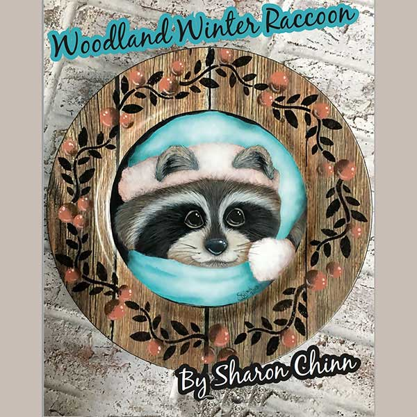Woodland winter racoon par Sharon Chinn