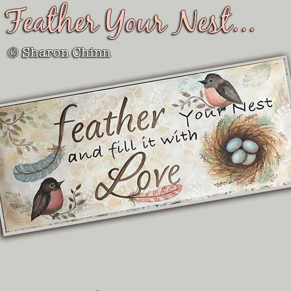 Feather your nest par Sharon Chinn