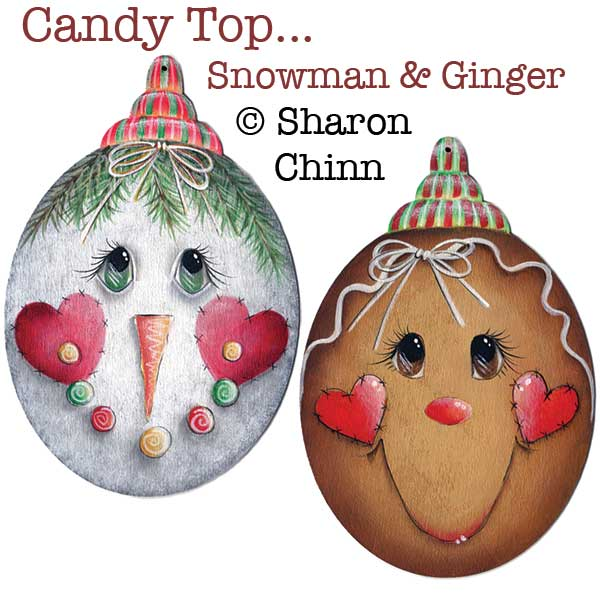 Candy top snowman and ginger par Sharon Chinn