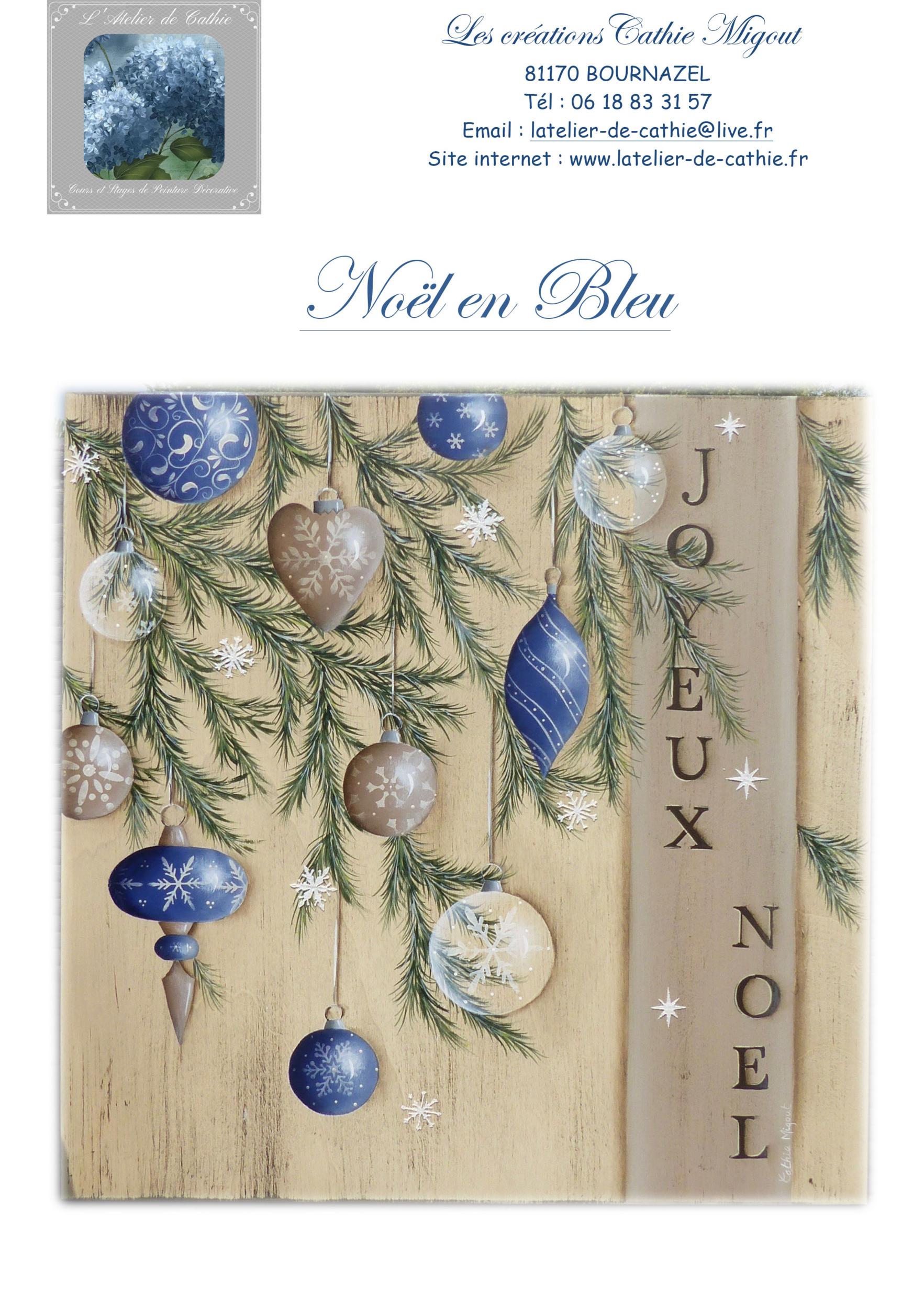 Noël en bleu - Les créations de Cathie Migout