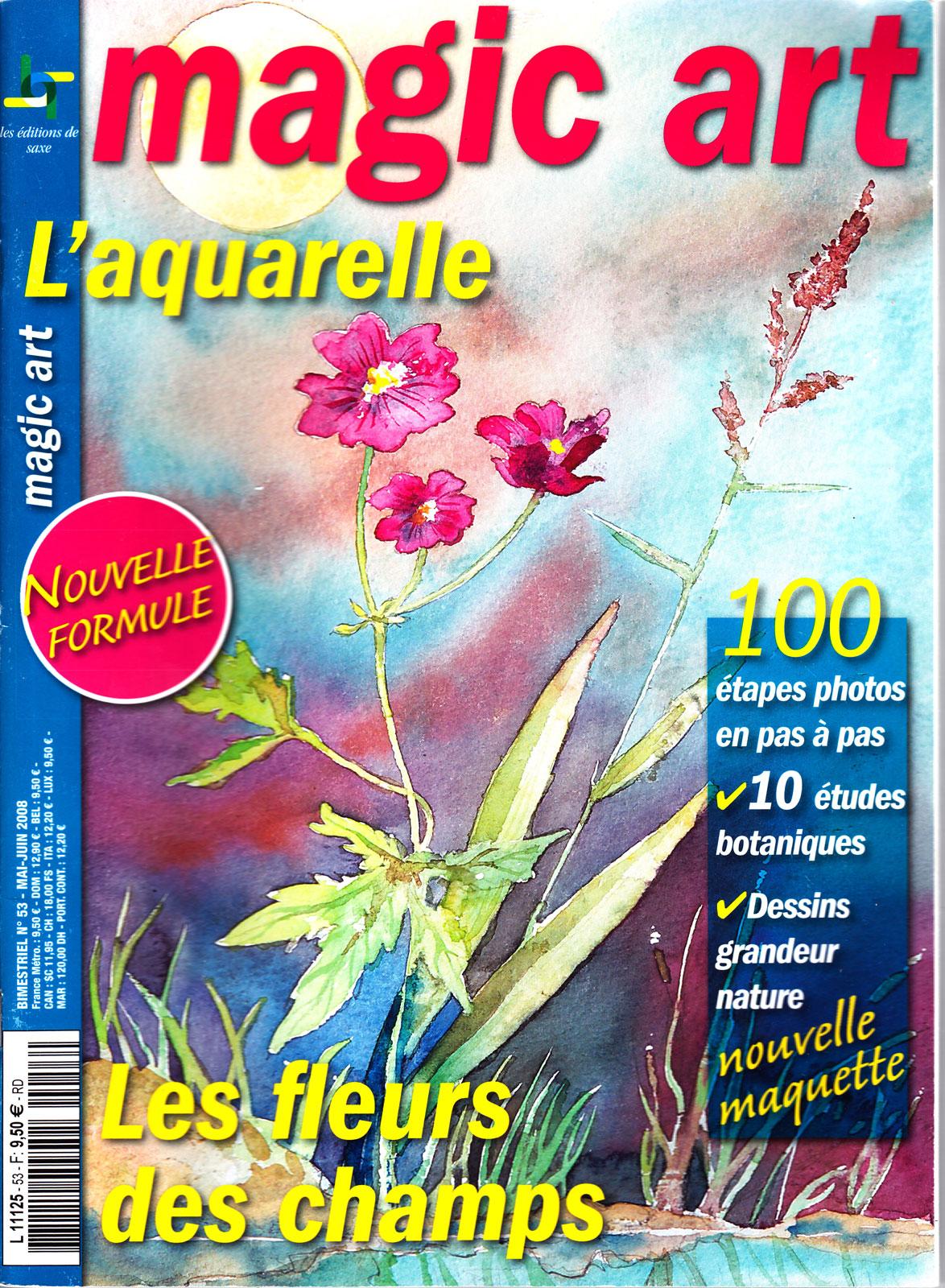 Les fleurs des champs à l\'aquarelle - Magic Art 53