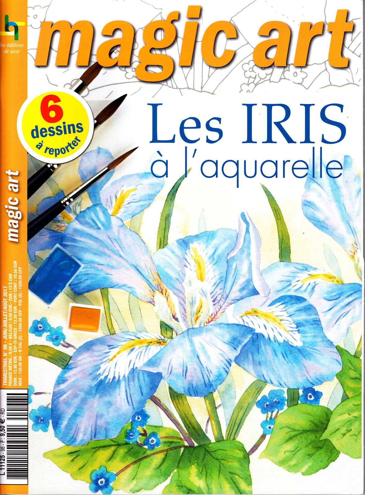 Les iris à l\'aquarelle - Magic art N°98