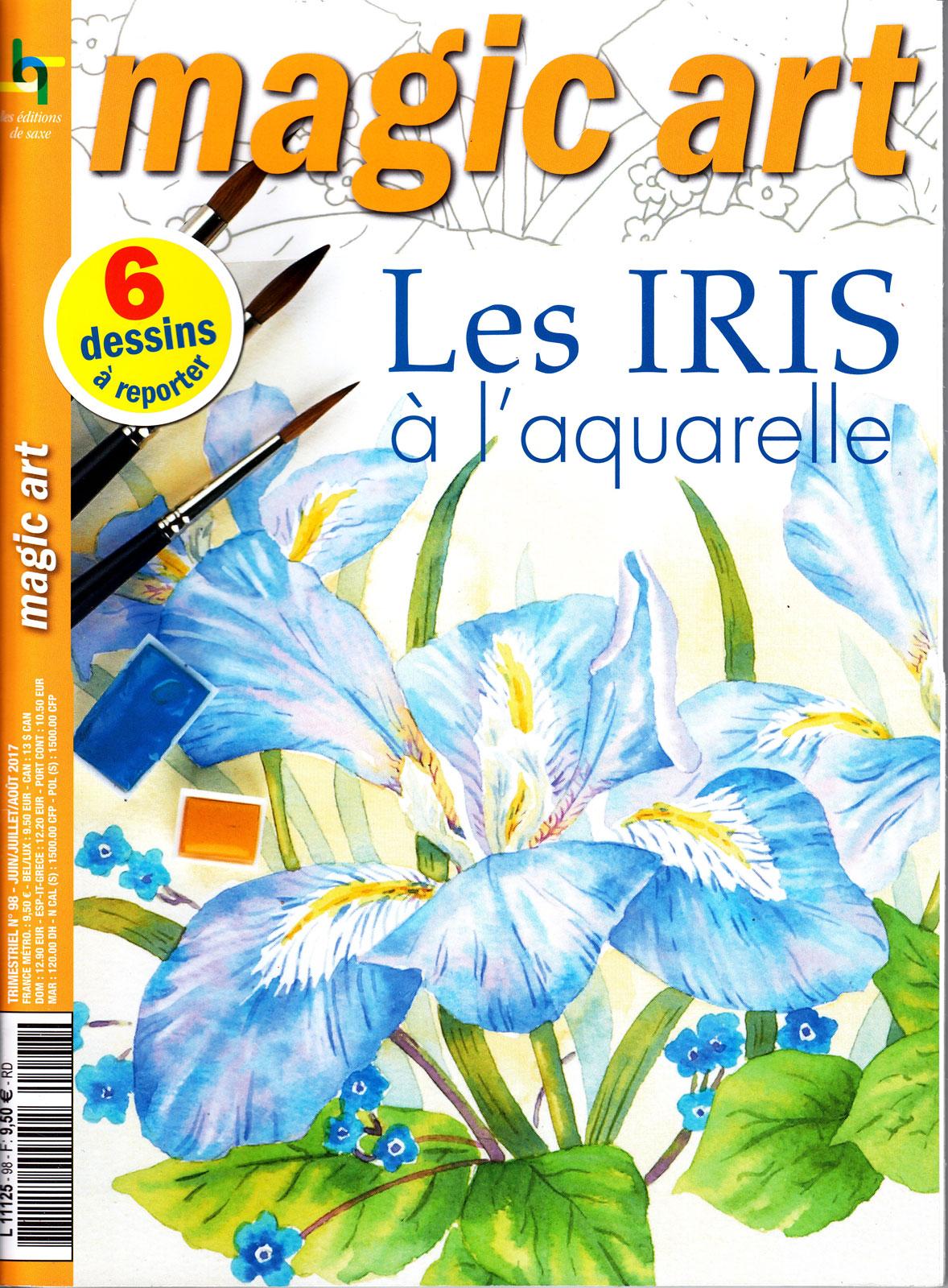 Les iris à l\'aquarelle - Magic art N°98