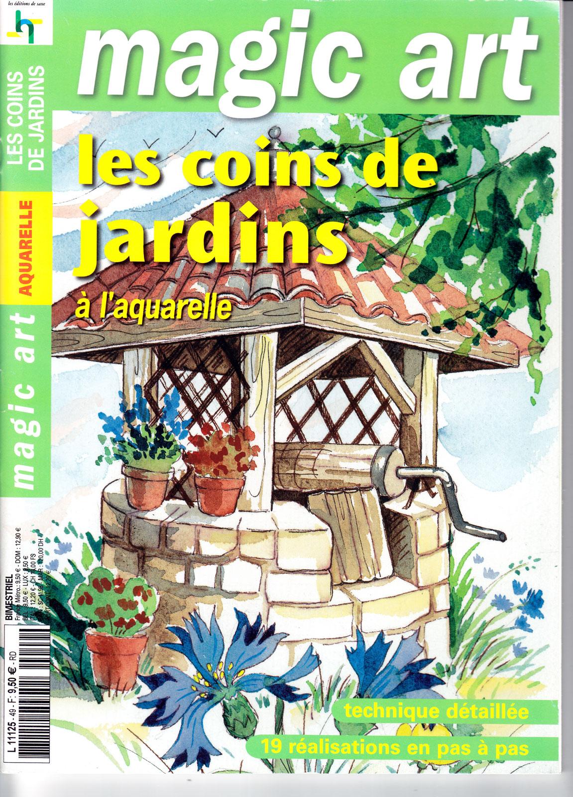 Revue Magic Art - N°49 - les coins de jardins à l\'aquarelle