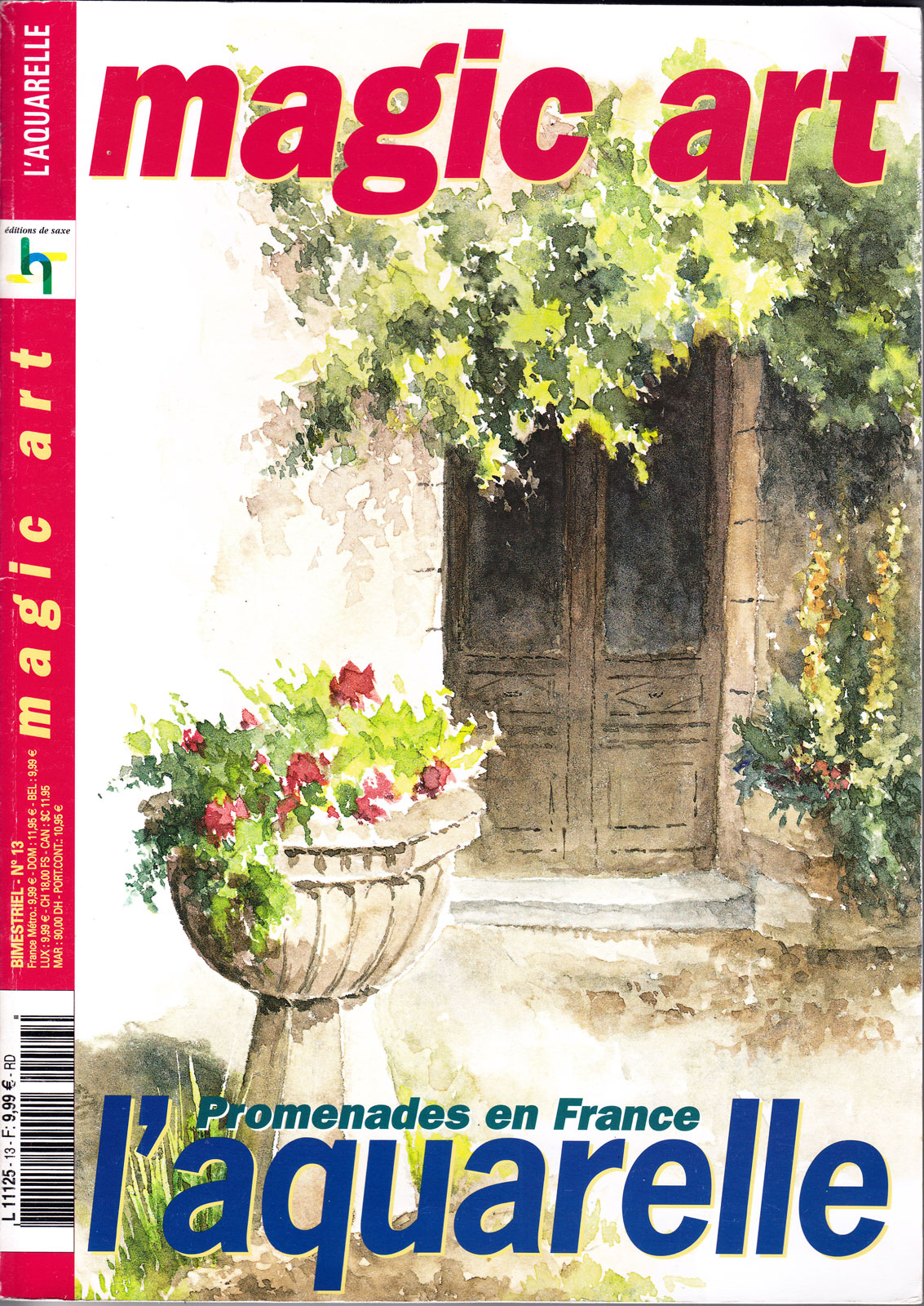 Revue Magic Art -  N°13 - L\'aquarelle - Promenades en France