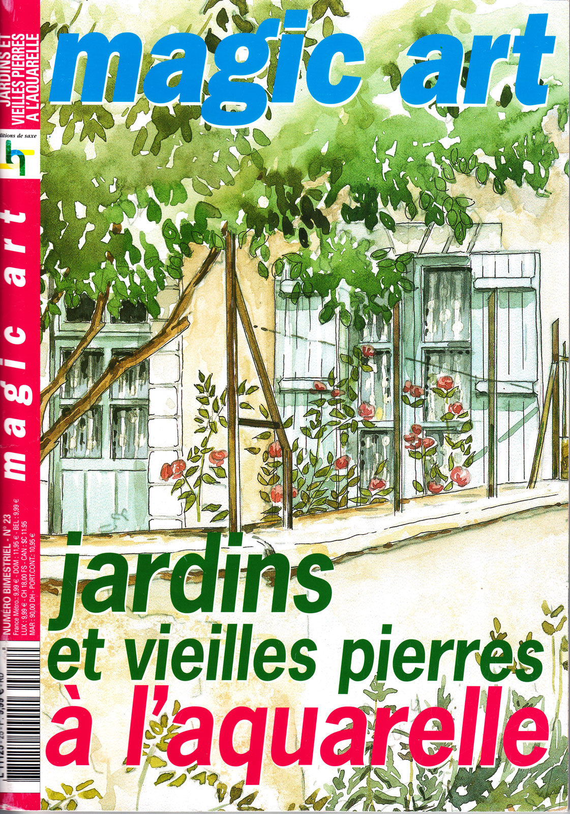 Revue Magic Art -  N°25 - Jardins et vieilles pierres à l\'aquarelle