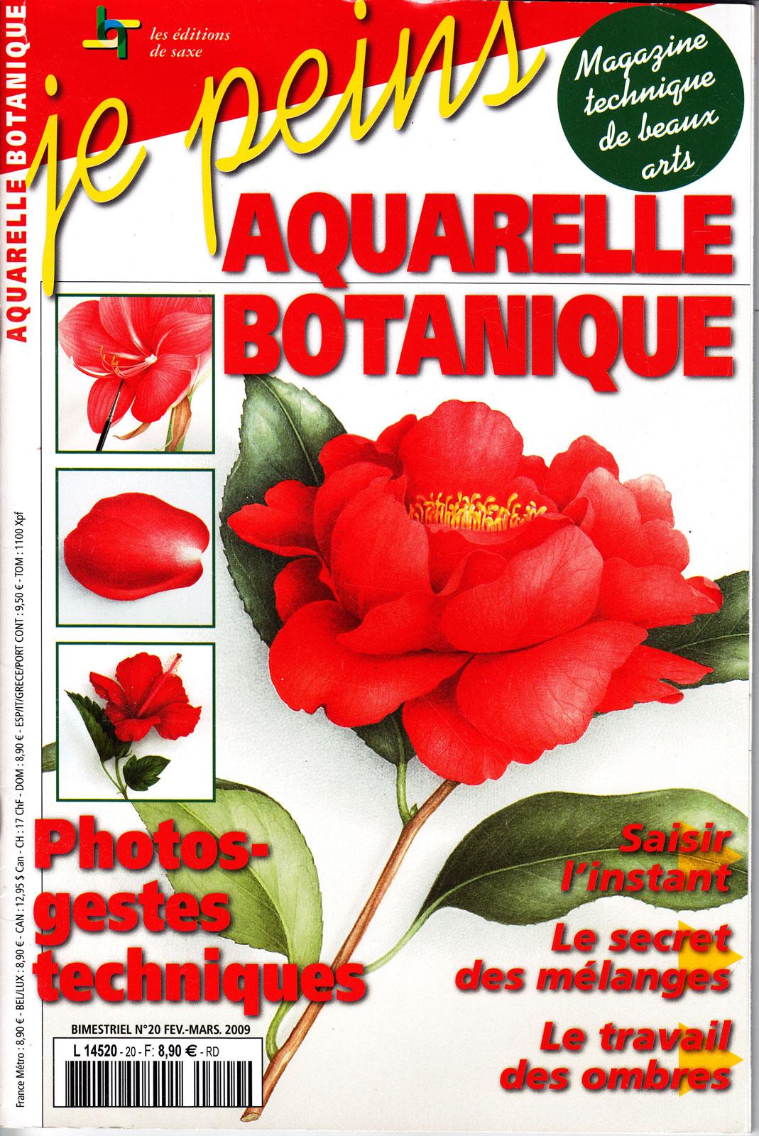 Magazine je peins - Aquarelle botanique