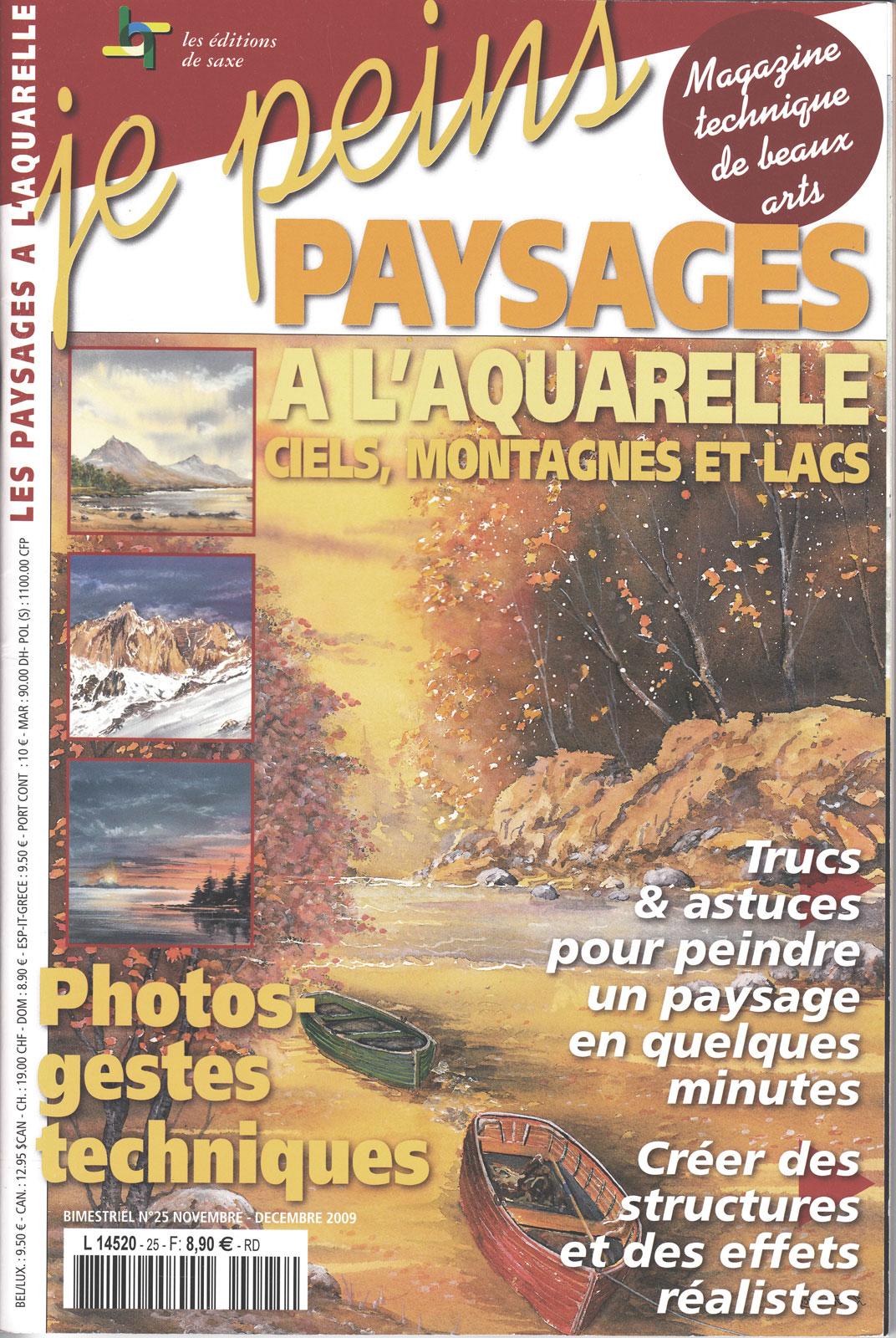 Magazine je peins - Paysages  à l\'aquarelle - ciels, montagnes et lacs