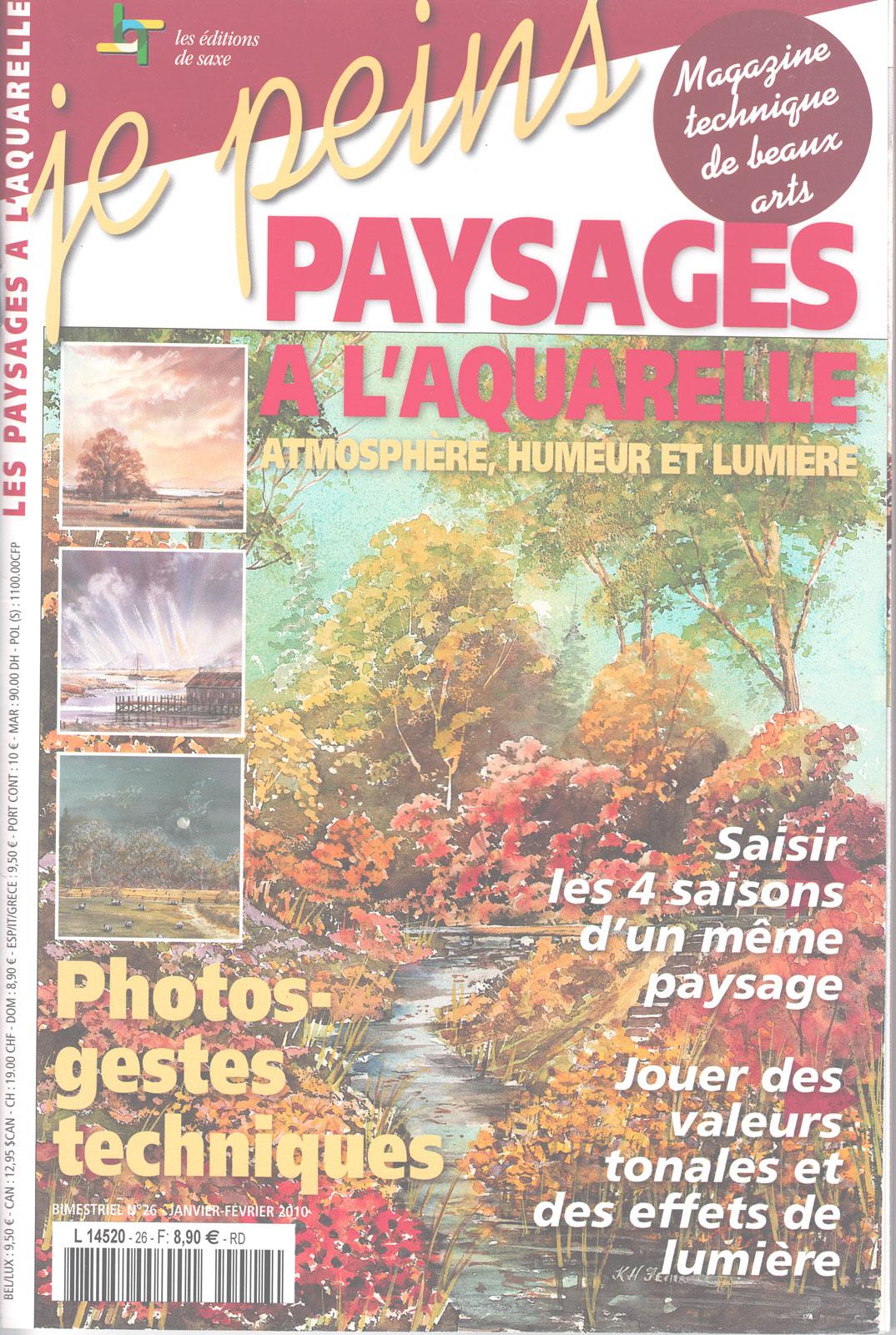 Magazine je peins - Paysages  à l\'aquarelle - Atmosphère, humeur et lumière