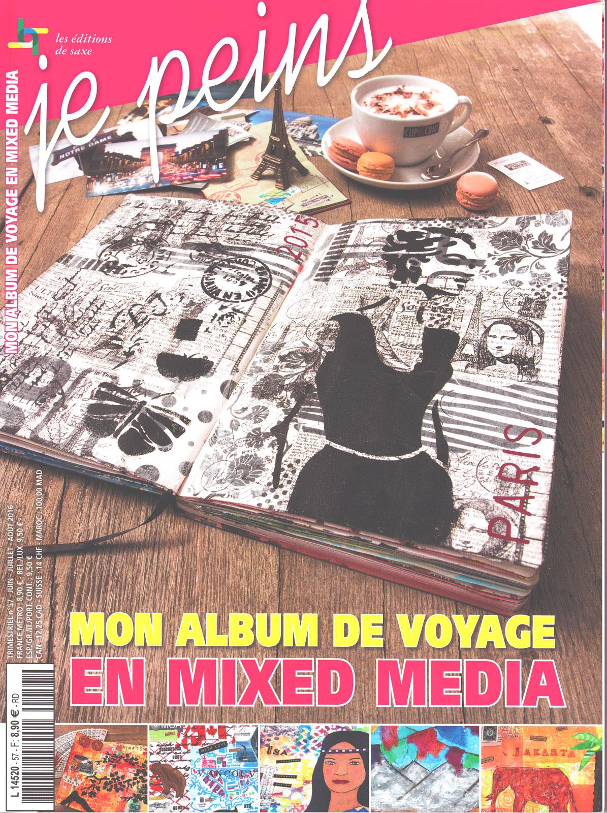 Magazine je peins - Mon album de voyage en mixed media