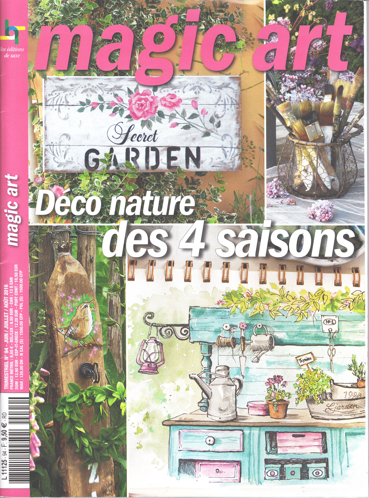 Revue Magic Art -  N°94 - Déco nature des 4 saisons