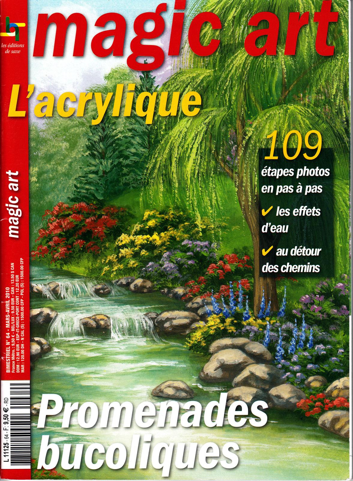 Revue Magic Art -  N°2 - L\'acrylique - promenades bucoliques