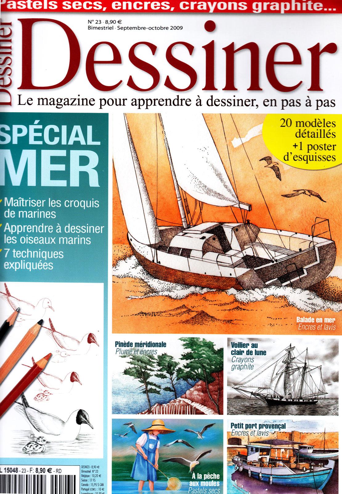 Magazine Dessiner - Spécial mer