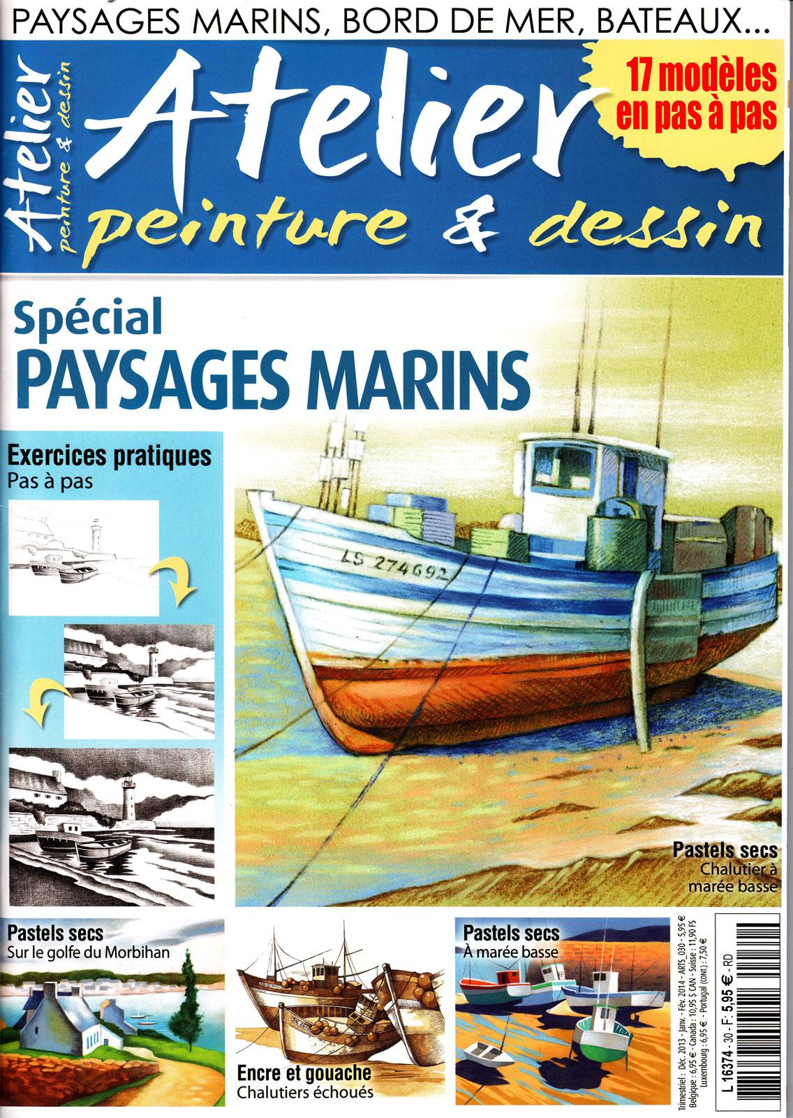 Magazine Atelier peinture & dessin - Spécial paysages marins