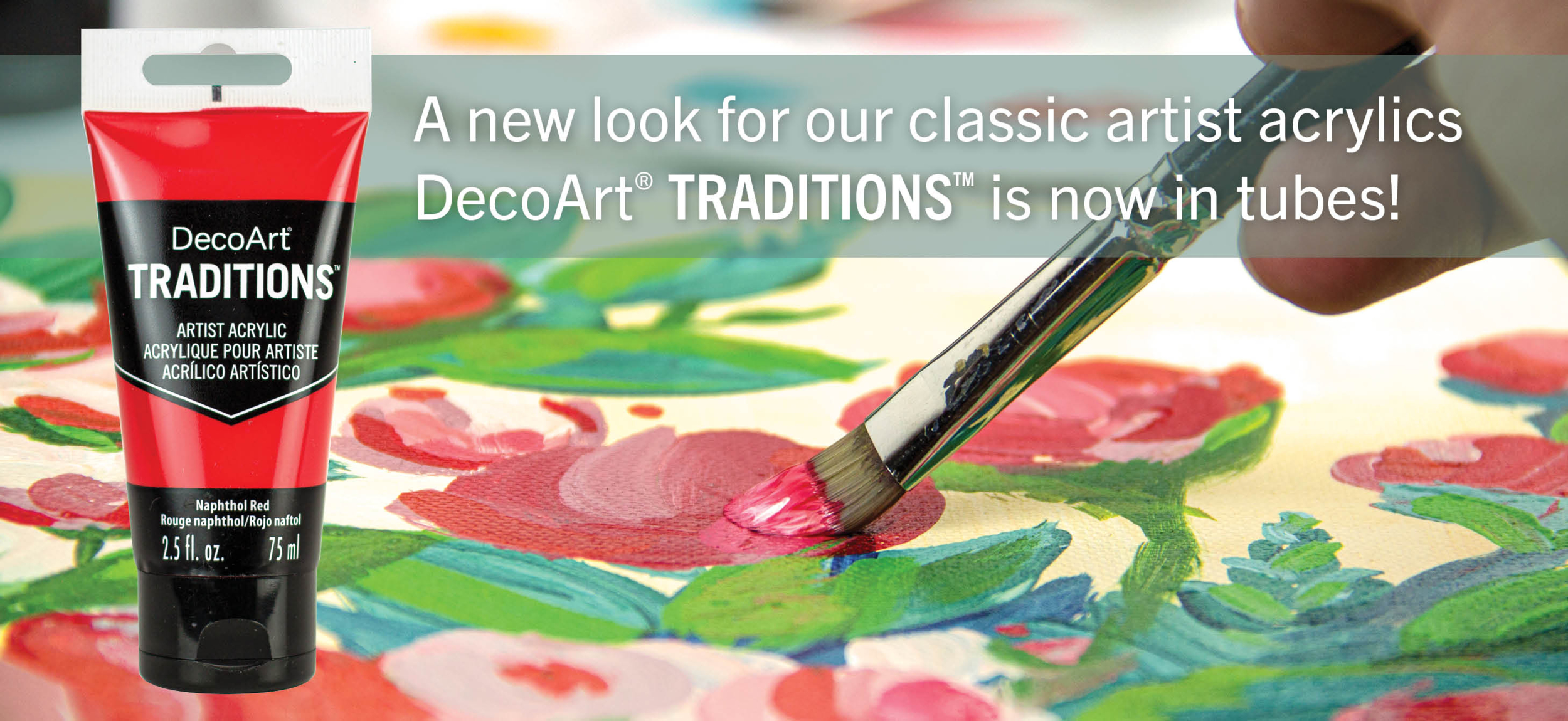 Peinture acrylique Traditions - DecoArt - 90ml