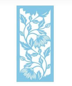 2 pochoirs motif la valse des fleurs - 21,5X28cm